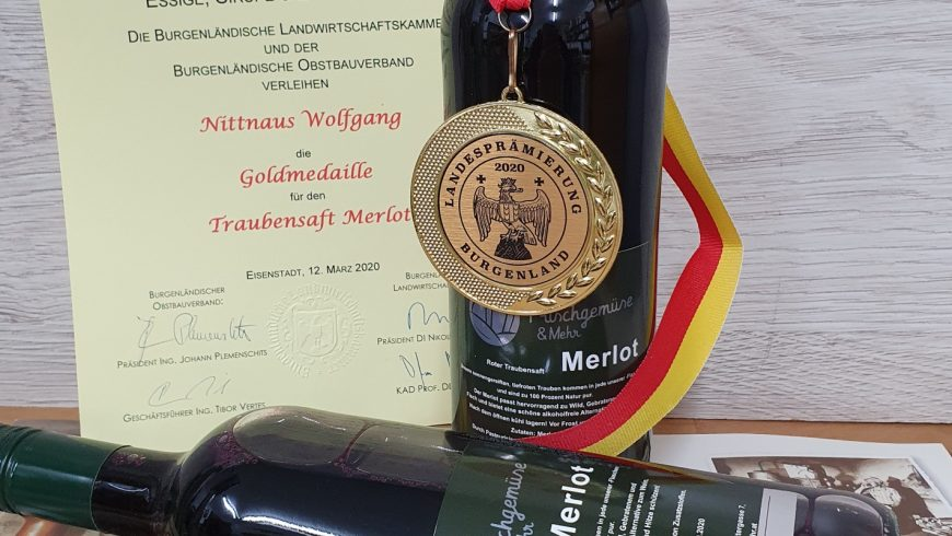 Goldmedaille Merlot Traubensaft