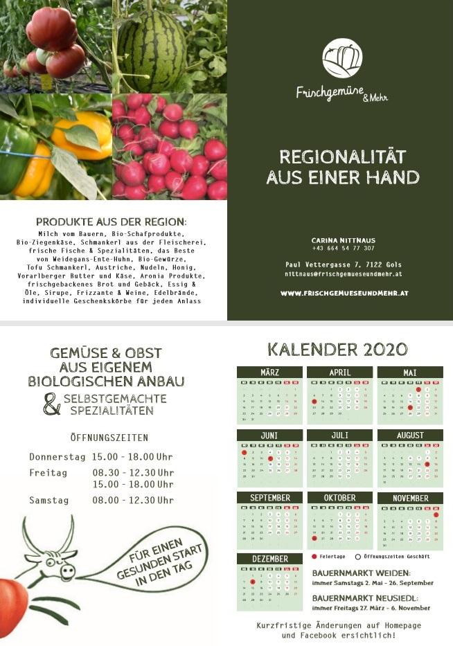 Saisonstart Ladenverkauf Gemüse